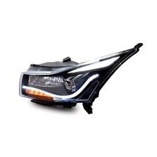 【免费安装】时宇09-14款科鲁兹A8氙气大灯总成 改装双光透镜LED日行灯 带雪莱特球泡+雪莱特安定器【一对】