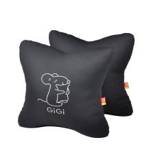 GIGI  G-1069 四季车饰车用办公用 可爱抱枕 腰靠垫【黑色】
