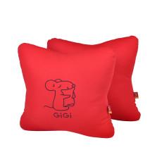 GIGI  G-1069 四季车饰车用办公用 可爱抱枕 腰靠垫   【红色】