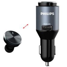 PHILIPS/飞利浦 无线车载蓝牙 入耳式手机耳机 SHB1803B/93