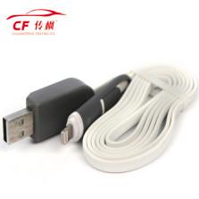 传枫/chuanfeng 二合一手机充电线 带电压电流检测仪显示数据线1米 苹果安卓通用【灰白色】CF-8008