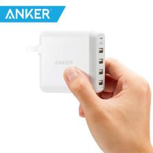 Anker A2142系列 40W 4口USB多口充电器插头 【白色】