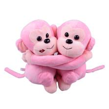豪增 纳米矿晶抱抱猴 车内家居办公除味活性炭包摆件 情侣猴爱情猴 粉色一对装