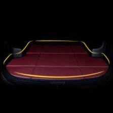轩利 经典折叠平边系列 专车专用皮革经典折叠后备箱垫【酒红色】