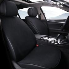 BBA车品制造商出品 文丰亚麻系列免捆绑通用五座座垫标准版五件套【黑色】