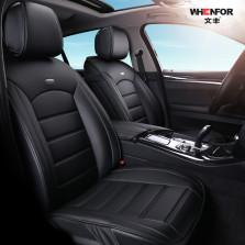 文丰 WF-6739 精英版后背半包 倍耐纤皮五座专车专用定制座垫【黑色】