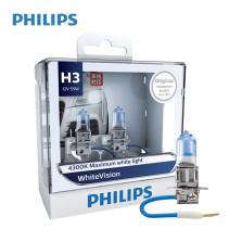 飞利浦/PHILIPS 璀璨之光White Vision 4300K H3 12V 55W 升级型卤素灯 12336WHV【双只】