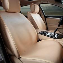 Mubo牧宝 MSJ 1607系列 舒适透气炫彩时尚四季空调垫五座通用汽车坐垫【米色】
