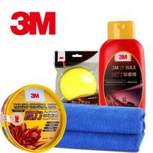 3M 魔力打蜡与划痕修复4件套装【水晶蜡+划痕蜡+海绵+毛巾】