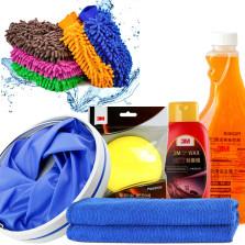 3M 清洁修复洗车三合一6件套装【洗车液+划痕蜡+水桶+打蜡棉+手套+毛巾】