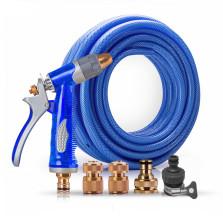 传枫/chuanfeng 金属洗车水枪套装 蓝色水枪+20米海蓝水管套装 CF-9020B