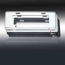 NFS 奥迪Q3 汽车架牌照框 新交规牌照框奥迪车牌架改装【银白色sline标】