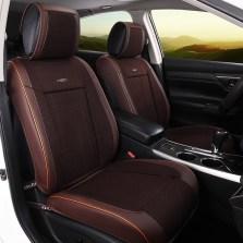 牧宝汽车坐垫套四季通用半包座垫套四季垫MSJ-W1703【棕色】