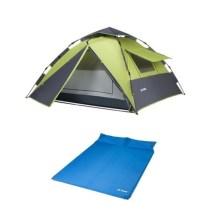 德国TAWA 【液压全自动升级版】 液压速开帐篷+双人气垫床 户外野营帐篷套餐【畅玩套餐】