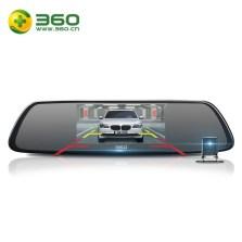 【限时包安装】360行车记录仪M301 前后双镜头手机互联 后视镜高清夜视倒车影像全景三合一 标配