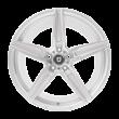 【66折 套装】丰途/FT502 19寸低压铸造轮毂 孔距5X108 ET40 银色车亮_