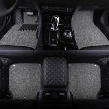 文丰 丝圈双层全包专车专用脚踏垫3D五座脚垫JD14【黑灰色】【多色可选】