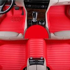 鑫宏宝 专车专用全包围五座丝圈汽车脚垫【玛瑙红】【多色可选】