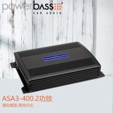 【免费安装】美国POWERBASS ASA3-400.2 车载AB类两声道功放 额定功率100瓦