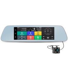 凌度 A912 8寸IPS大屏 前后双录 智能语音 电子狗 GPS导航 蓝牙 智能后视镜行车记录仪 标配
