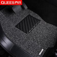 乔氏 思哥达系列 耐磨耐脏地毯式丝圈专车专用五座汽车脚垫 14mm厚度【黑灰色】