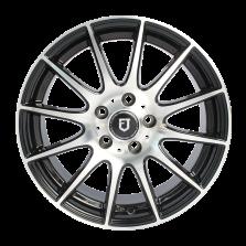 【85折 套装】丰途/FT101 16寸低压铸造轮毂 孔距5X114.3 黑色车亮