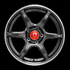 【8折套装】丰途/FR652 15寸 旋压铸造轮毂 孔距5X100 ET35亮铁灰+铣肋+车边