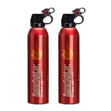 火焰战士 车载干粉灭火器 年检必备 红色(灭火器+支架)600g*2