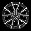 【四只套装】丰途/FT506 18寸 低压铸造轮毂 孔距5X112 ET35黑色车亮