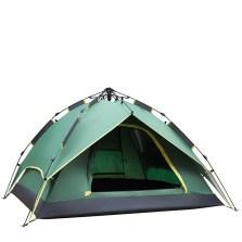德国TAWA 拉绳款全自动帐篷 户外3-4人露营防雨帐篷 (军绿色)160626