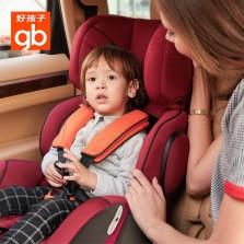 好孩子 铠甲勇士 9月-12岁 高速婴儿坐椅防侧撞 儿童安全座椅(经典红黑)CS626