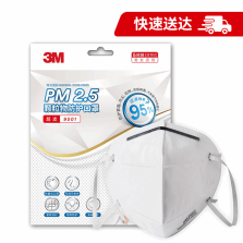 3M PM2.5颗粒物防护口罩 9501 耳带式 KN95 5枚装
