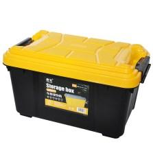 悦卡 汽车储物箱 车用收纳箱 车载后备箱整理箱置物盒 金刚系列大号炫酷黑55L YC-1124
