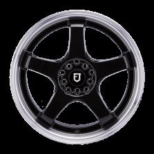 【买3送1 套装】丰途/FT510 17寸低压铸造轮毂 孔距5X108/5X112 ET40黑色涂装车边