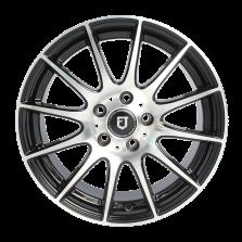 【买3送1 套装】丰途/FT101 17寸低压铸造轮毂 孔距5X112 ET42黑色车亮