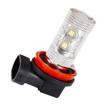 暴享 汽车LED雾灯插泡 LED雾灯灯泡 辅助雾灯  LED前雾灯 白光雾灯 H8/H9/H11  一对
