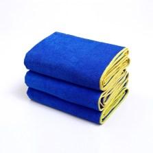 途虎定制 洗车毛巾强吸水大毛巾车用细纤维加厚不易掉毛擦车巾 大号 45*120cm【3条装】