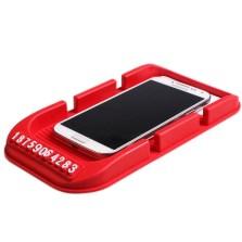 安美时 防滑垫 手机车载支架车用防滑垫 配电话号码贴 双卡槽【颜色随机】
