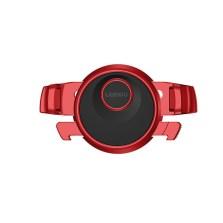 乐益飞行器360度旋转卡扣式出风口手机支架【亚光金属红】
