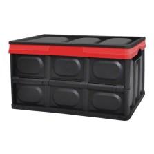 悦卡 可折叠汽车收纳箱 55L家用车载多功能储物箱整理箱 炫酷黑 YC-1098