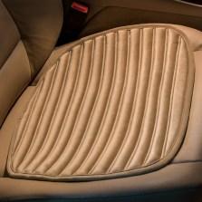 牧宝 碧玺石填充丽丝绒布小方垫 单座座垫坐垫车居两用【米色】