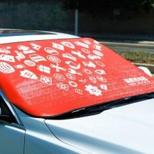 【618】途虎定制 夏季防晒隔热前置汽车遮阳挡 前档风玻璃罩遮阳帘【200*80】