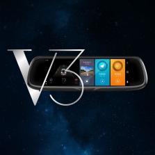 祖师汇 北斗云龙V3 阿里YunOS全网通智能后视镜 前后双录行车记录仪【黑色】标配+16G卡+流量卡