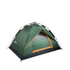 德国TAWA 拉绳款全自动帐篷 户外3-4人露营防雨帐篷(军绿色) 180411