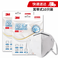 3M PM2.5颗粒物防护口罩 9501 耳带式 KN95 10枚装