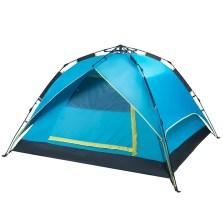 德国TAWA 拉绳款全自动帐篷 户外3-4人露营防雨帐篷(天蓝色)160626